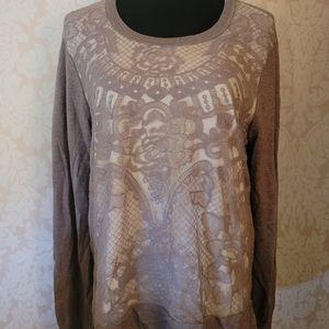 Simply Vera VeraWang Mock-Layer Lace Sweater!